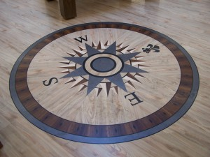 Compass Floor Inlay